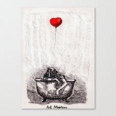 Ad Mortem Canvas Print