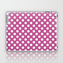 Polka dot pattern/pink background Laptop & iPad Skin
