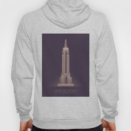 Empire State Building New York Art Deco - Vintage Dark Hoody