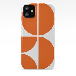 Mid Century Modern Orange Square iPhone Case