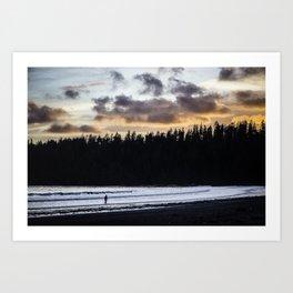Walking in twilight Art Print