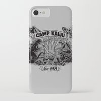 kaiju iPhone & iPod Cases featuring Camp Kaiju by Austin James
