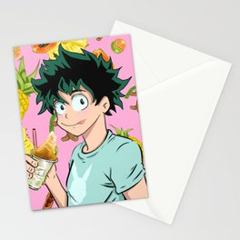 Midoriya Chillin Stationery Cards