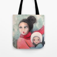 mom Tote Bags featuring Mom by By Malino