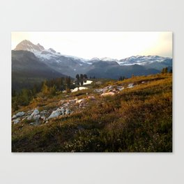 Elfin lake twilight Canvas Print