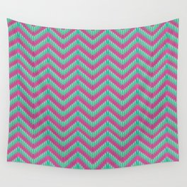 Hot Pink & Mint Wall Tapestry