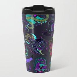 Neon Demons Metal Travel Mug