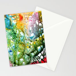 Coral Abstract colorful and vibrant Stationery Cards