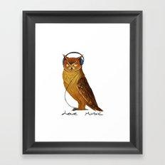 Love Music owl  Framed Art Print