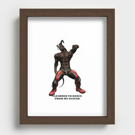 I Learned to Dance From My Avatar (2) Recessed Framed Print