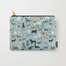 Dogs pattern print must have gifts for dog person mint dog breeds Carry-All Pouch