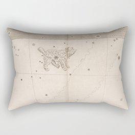 Johann Bayer - Uranometria / Measuring the Heavens (1661) - 37 Canis Minor / Little Dog Rectangular Pillow