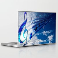 music notes Laptop & iPad Skins featuring Music Notes by Svetlana Sewell