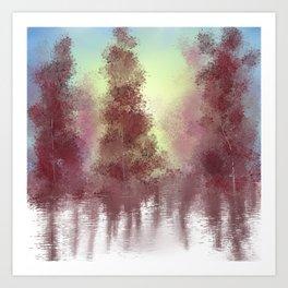 Morning Woods Art Print