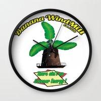 warcraft Wall Clocks featuring Banana Energy Co. by SmallWheel