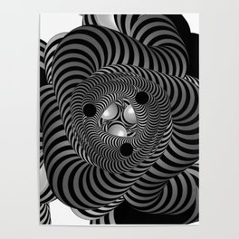 Black and White Abstract Design Poster