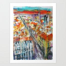 BORDEAUX Au Top Art Print