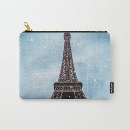 Winter in Paris - Eiffel Tower France Carry-All Pouch