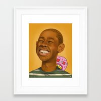 tyler the creator Framed Art Prints featuring Tyler, The Creator by Karen Keller
