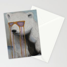 Coked Out Bear, not the soft drink Stationery Cards