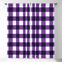 Purple Chessboard Blackout Curtain