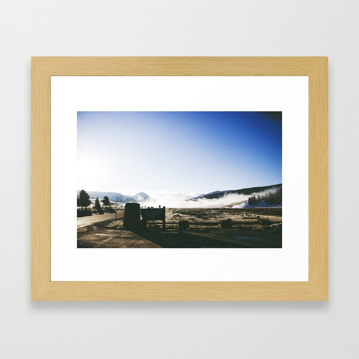 A Drive Through Yellowstone Framed Art Print