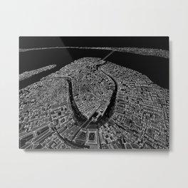 Venice in BW Metal Print