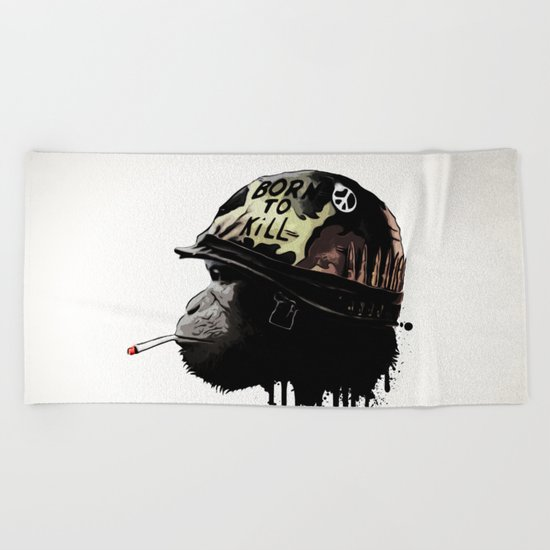 Born to kill Beach Towel
