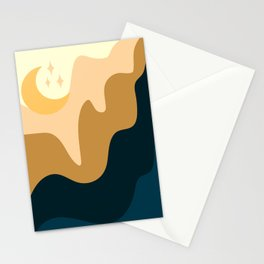 Moon setting Stationery Cards