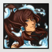 the legend of korra Canvas Prints featuring Korra by BubbleJuiceBox