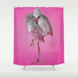 Resting Flamingo Shower Curtain