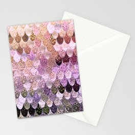 SUMMER MERMAID MOONSHINE  GOLD 2 Stationery Cards