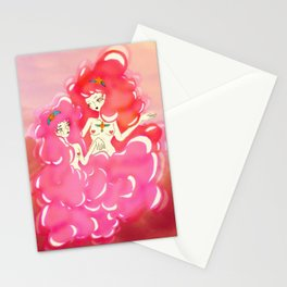 cloud girls Stationery Cards