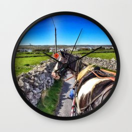 Carriage with a Tinker Pony Wall Clock