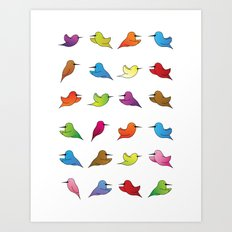 Humming Birds Art Print