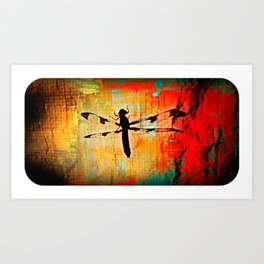 The Dragonfly Colored Art Print