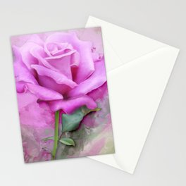 Watercolour Pastel Lilac Rose Stationery Cards
