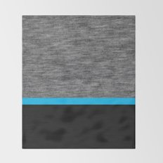 Athletic Grey and Blue Throw Blanket