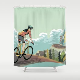 Mountains Girls Shower Curtain