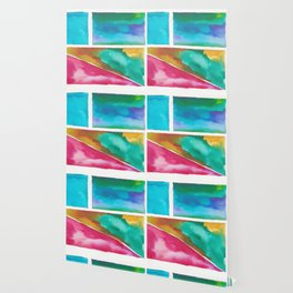 180811 Watercolor Block Swatches 11| Colorful Abstract |Geometrical Art Wallpaper