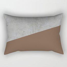 Concrete with Emperador Color Rectangular Pillow