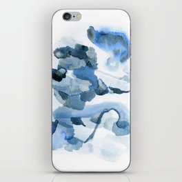Pre-Dawn: a pretty, dramatic, mixed-media piece in shades of blues iPhone Skin