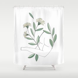 Flower lounging Shower Curtain