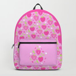 CUTE STRAWBERRY FIELDS - PINK Backpack