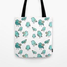 Flock Of Birds - Green Tote Bag