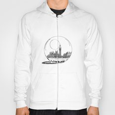 London in a glass ball Hoody