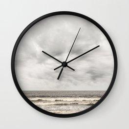 Atlantic Ocean on a Cloudy Day Wall Clock