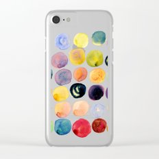 Watercolor Constellation Clear iPhone Case