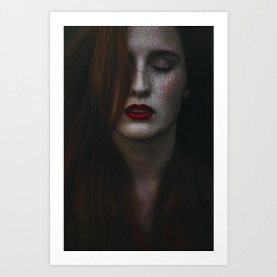 Dark freckle Art Print