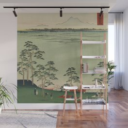 Spring Trees Mountain Ukiyo-e Japanese Art Wall Mural